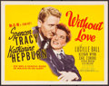 "Movie Posters:Romance, Without Love (MGM, 1945). Title Lobby Card (11"" X 14""). Romance.. ..."