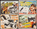 """Movie Posters:Foreign, Rashomon & Others Lot (RKO, 1951). Mexican Lobby Cards (4) (Approximately 13"""" X 16.25""""). Foreign.. ... (Total: 4 Items)"""
