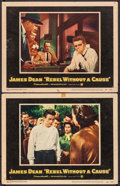 """Movie Posters:Drama, Rebel Without a Cause (Warner Brothers, 1955). Overall: Fine/VeryFine. Lobby Cards (2) (11"""" X 14""""). Drama.. ..."""