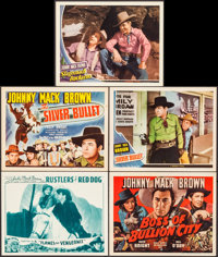 """Rustlers of Red Dog & Others Lot (Universal, 1935). Lobby Cards (3) & Title Lobby Cards (2) (11"""" X 14""""..."""