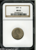 """Liberty Nickels: , 1897 5C MS63 NGC. The current Coin Dealer Newsletter (Greysheet)wholesale """"bid"""" price is $110.00...."""