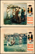 "Movie Posters:Comedy, College (United Artists, 1927). Lobby Cards (2) (11"" X 14"") HapHadley Artwork.. ... (Total: 2 Items)"