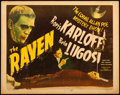 """Movie Posters:Horror, The Raven (Realart, R-1948). Title Lobby Card (11"""" X 14"""").. ..."""