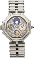 "Timepieces:Wristwatch, Gerald Genta Platinum ""Success"" Minute Repeating Perpetual Calendar Wristwatch With Moon Phases. ..."