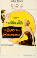 """Movie Posters:Film Noir, The Lady from Shanghai (Columbia, 1947). Window Card (14"""" X 22"""")....."""