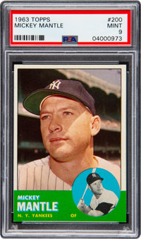 1963 Topps Mickey Mantle #200 PSA Mint 9