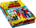 Non-Sport Cards:Unopened Packs/Display Boxes, 1976 Topps Marvel Super Heroes Stickers Wax Box with 36 UnopenedPacks. ...