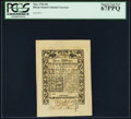 Colonial Notes:Rhode Island, Rhode Island May 1786 40s PCGS Superb Gem New 67PPQ.. ...