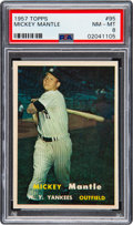 Baseball Cards:Singles (1950-1959), 1957 Topps Mickey Mantle #95 PSA NM-MT 8....