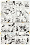 "Original Comic Art:Complete Story, John Calnan World's Finest Comics #229: ""The Strangler fromthe Stars"" Complete 8-Page Story Original Art (DC Comi... (Total: 8Original Art)"