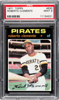 Baseball Cards:Singles (1970-Now), 1971 Topps Roberto Clemente #630 PSA Mint 9 - Only One Higher....