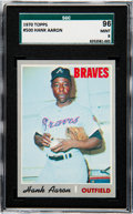 Baseball Cards:Singles (1970-Now), 1970 Topps Hank Aaron #500 SGC 96 Mint 9 - None Higher....