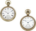 Timepieces:Pocket (pre 1900) , Two Waltham Double Dial Chronographs. ... (Total: 2 Items)