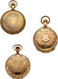 Timepieces:Pocket (pre 1900) , Three Otay Watch Co. Hunters For Restoration. ... (Total: 3 Items)
