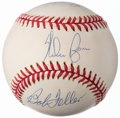 Autographs:Baseballs, Ryan/Feller/Koufax Multi-Signed Baseball.. ...