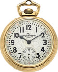 Timepieces:Pocket (post 1900), Ball Rare 992B Marked Official Standard 16 Size. ...
