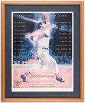 Autographs:Photos, Ted Williams' Hit List Signed Limited Edition Lithograph.. ...