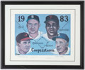 Autographs:Photos, 1983 Hall of Fame Class Multi-Signed Limited Edition Print (4Signatures).. ...