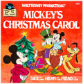 Animation Art:Concept Art, Mickey's Christmas Carol Record Sleeve Mock-Up Art (Walt Disney, 1982)....