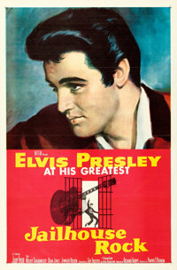 "Jailhouse Rock (MGM, 1957). One Sheet (27"" X 41"") Bradshaw Crandell Artwork"