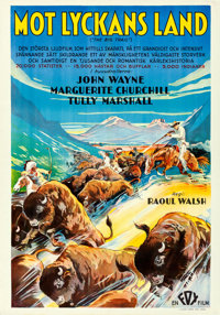 "The Big Trail (Fox, 1931). Swedish One Sheet (27.5"" X 39.5"")"