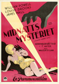 Movie Posters:Crime, The Canary Murder Case (Paramount, 1929). Swedish ...
