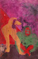 Bob Thompson (American, 1937-1966) Untitled Mixed media on smooth wove paper 9-3/8 x 6-3/8 inches (23.8 x 16.2 cm) (s...