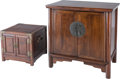 Asian:Chinese, Two Chinese Hardwood Cabinets, 20th century. 30 x 30-5/8 x 19-5/8inches (76.2 x 77.8 x 49.8 cm) (larger). PR...