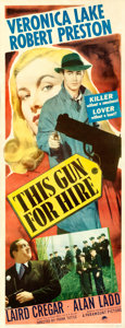 "Movie Posters:Film Noir, This Gun for Hire (Paramount, 1942). Insert (14"" X 36"").. ..."