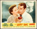 """Movie Posters:Comedy, The Lady Eve (Paramount, R-1949). Autographed Lobby Card (11"""" X14"""").. ..."""