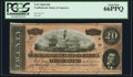 Confederate Notes:1864 Issues, Fully Framed T67 $20 1864 PF-15 Cr. 515.. ...