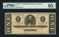 Confederate Notes:1864 Issues, T71 $1 1864 PF-10 Cr. 573A.. ...