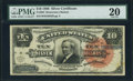 Large Size:Silver Certificates, Fr. 294 $10 1886 Silver Certificate PMG Very Fine 20.. ...
