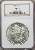 Morgan Dollars: , 1890-CC $1 MS62 NGC. NGC Census: (1488/2684). PCGS Population: (2652/6570). CDN: $525 Whsle. Bid for problem-free NGC/PCGS ...