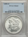 Morgan Dollars: , 1890-O $1 MS65 PCGS. PCGS Population: (748/28). NGC Census:(204/2). CDN: $1,200 Whsle. Bid for problem-free NGC/PCGS MS65....
