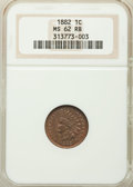 1882 1C MS62 Red and Brown NGC. NGC Census: (7/363). PCGS Population: (21/563). Mintage 38,581,100. ...(PCGS# 2143)