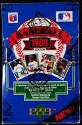 Baseball Cards:Unopened Packs/Display Boxes, 1989 Upper Deck Baseball Unopened Low Series Box With 36 FoilPacks. ...