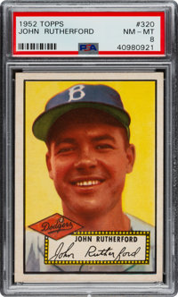 1952 Topps John Rutherford #320 PSA NM-MT 8 - None Higher
