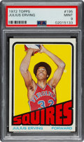 Basketball Cards:Singles (1970-1979), 1972 Topps Julius Erving #195 PSA Mint 9 - Only One Higher....