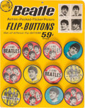 Music Memorabilia:Memorabilia, Beatles Original Flasher Buttons Counter Display Complete with Twelve Buttons (Saymore, circa 1964). ...