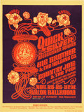 Music Memorabilia:Posters, Quicksilver/Big Brother/Country Joe Avalon Ballroom Concert Poster FD-36 (Family Dog, 1966). ...