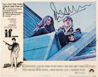 Malcolm McDowell Signed Lobby Card from If.... (Paramount, 1968)