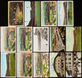Autographs:Post Cards, Pittsburgh Pirates Forbes Field Vintage Postcard lot of 14.. ...