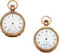 Timepieces:Pocket (pre 1900) , Waltham Two 14k Gold Amn. Grade Model 72 Watches. ... (Total: 2Items)