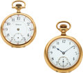 Timepieces:Pocket (post 1900), Waltham 14k Gold Non-Magnetic 23 Jewel Riverside Maximus & Gold Filled Up Jeweled Model 88 Riverside, 21 Jewels. ... (Total: 2 Items)