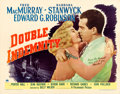"Movie Posters:Film Noir, Double Indemnity (Paramount, 1944). Half Sheet (22"" X 28"") Style A.. ..."