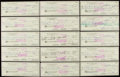 Autographs:Others, Sam Snead Signed Checks Lot of 25.. ...