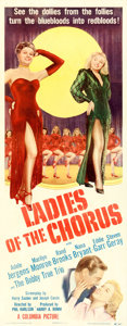 """Movie Posters:Comedy, Ladies of the Chorus (Columbia, 1948). Insert (14"""" X 36"""").. ..."""