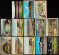 Autographs:Post Cards, Cleveland Indians Municipal Stadium Vintage Postcard Lot Lot of 13.. ...