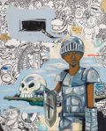 Paintings, Hebru Brantley (American, b. 1981). Hollow Bones, 2014. Oil on canvas. 30-1/4 x 24 inches (76.8 x 61.0 cm). Signed, date...